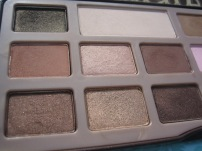 Too Faced Chocolate Bar Palette photographed in outdoor lighting (left half) ©skinandcolors.com