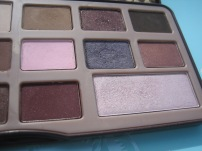 Too Faced Chocolate Bar Palette photographed in outdoor lighting (right half) © skinandcolors.com